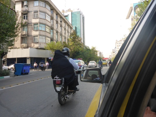 Helmets are only ever worn by men (sometimes) - Tehran, Iran