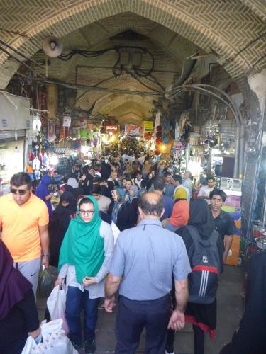 The very crowded Grand Bazar, Tehran, Iran