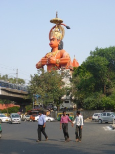 The strange Monkey God statue in New Delhi