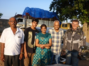 Ukay, Smita, Dharmendra and uncle who escorted us into Ballia and invited us into their home