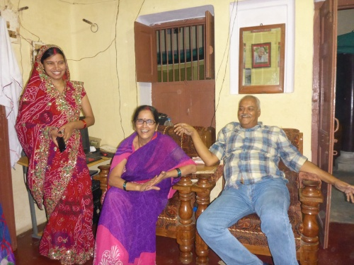 Ukay, his wife and daughter-in-law, Ballia, India