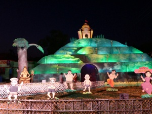 Pandal for Diwali in Guwahati