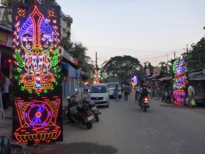 Light display for Diwali in Guwahati