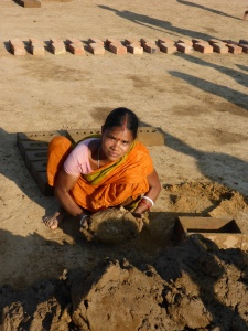 Brick making in Assam, India