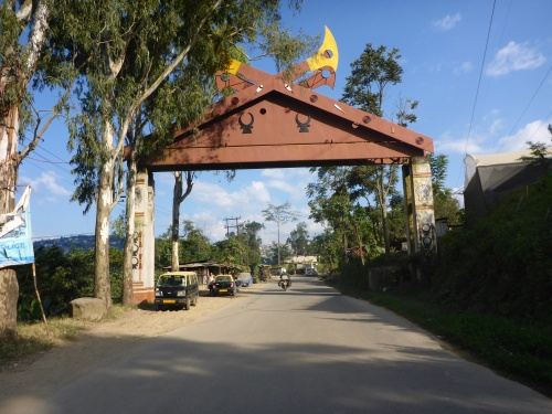 Typical village entrance gate in Nagaland, India