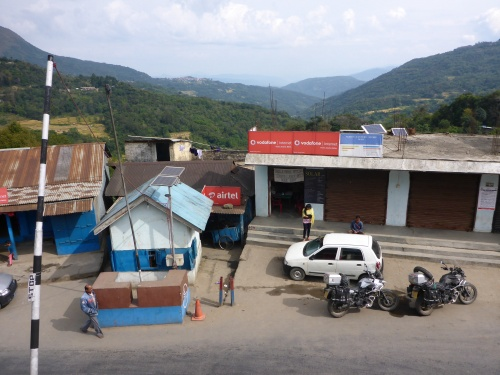 Police border post at Mao,  Manipur - view from the police office