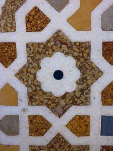 Mosaics at I'timad-ud-Daulah mausoleum, Agra, India