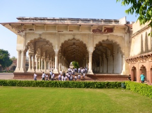 Deewan-I-Am, Hall of Public Audience, inside the Red Fort, Agra, India