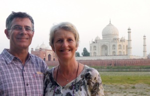 We were at the Taj Mahal, Agra, India!!!  Waiting for the sunset...
