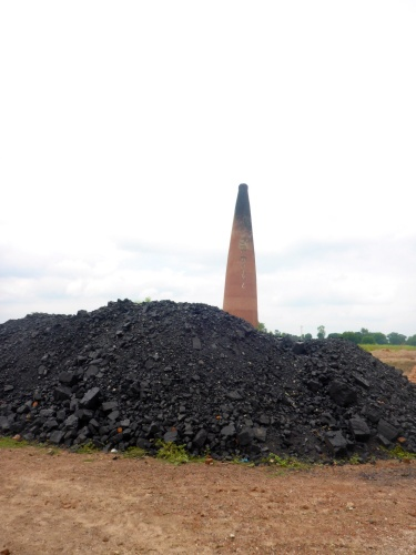 Coal for fuelling the brick kiln