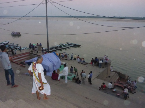 Ghat to the Ganges, Varanasi, India