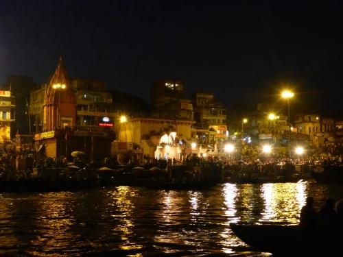 Fire ceremony, Varanasi, India