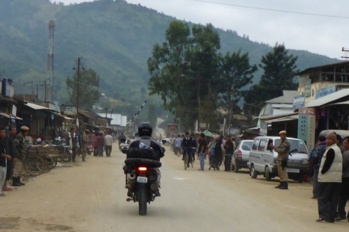 So many army and police line the roads through the Manipur region to the Myanmar border