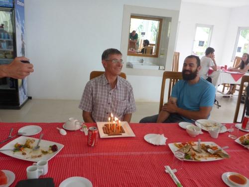 Anthony's 60th birthday 'cake' in Kyaikto, Myanmar
