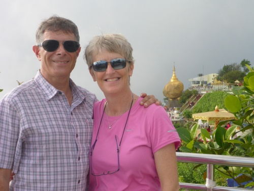 On Anthony's 60th birthday at Golden Rock, Myanmar