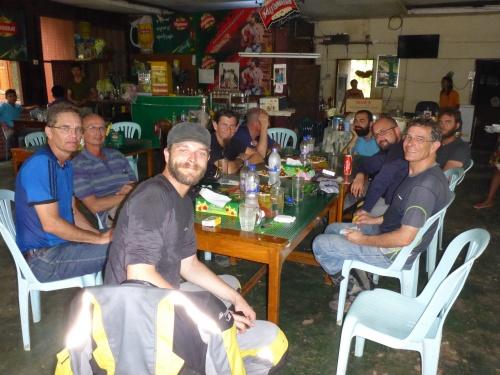 Our last meal in Myanmar at Kawkareik