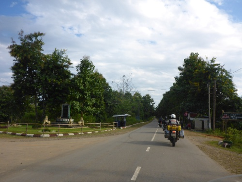 Our first glimpse of Myanmar - tidy town, clean streets, good roads
