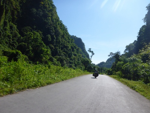 Heading east towards Kawkareik, Myanmar
