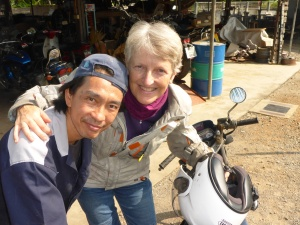 Nung, the brilliant mechanic, loves selfies!