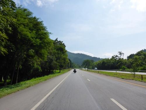 Fabulous sweeping road towards Nan, Thailand