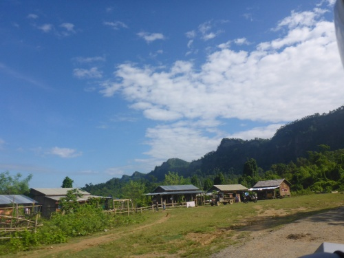 Riding through remote villages in this high valley in Myanmar