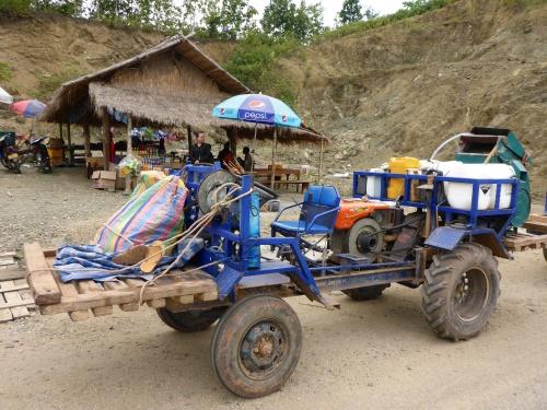 Ingenious Laos goods carrier