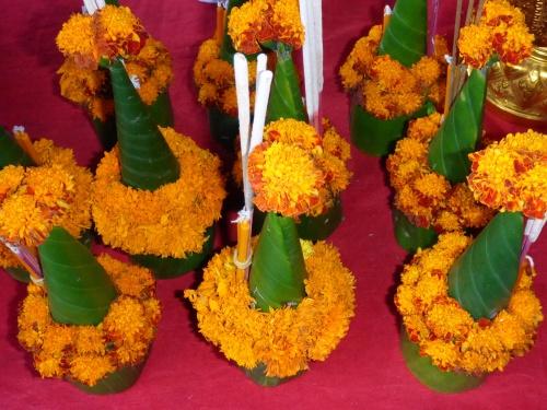 Offrande de fleurs, Luang Prabang, Laos