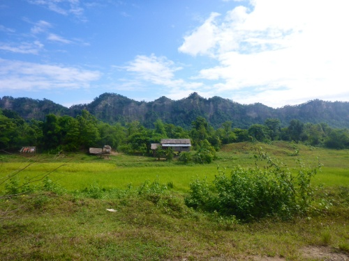 We wish we could have just stayed and camped in this stunning valley on day 2 in Myanmar