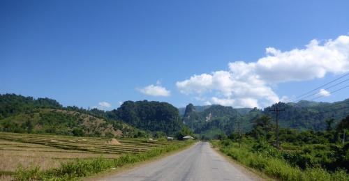 Between Kasi and Vang Vieng, Laos