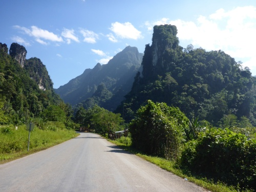 Between Kasi and Vang Vieng, Laos