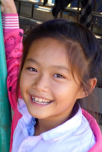 Young Lao girl in Kasi