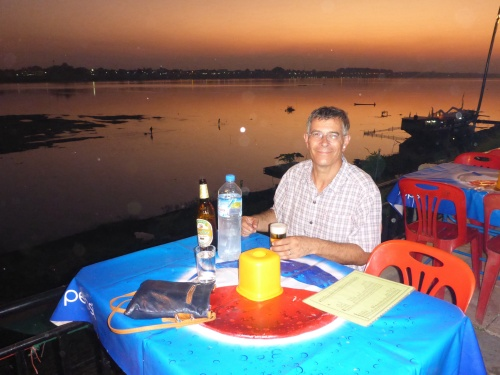 Dinner by the Mekong at Vientiane, Laos