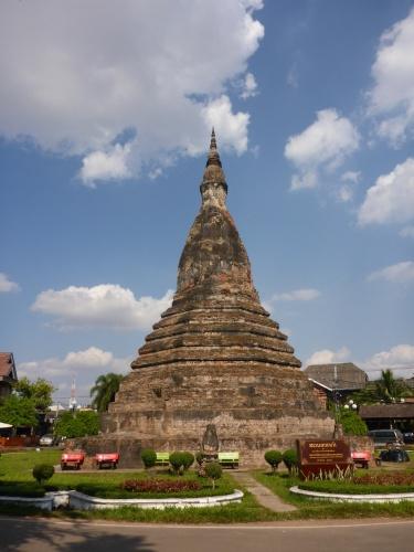 That Dam, or Black stupa, Vientiane, Laos