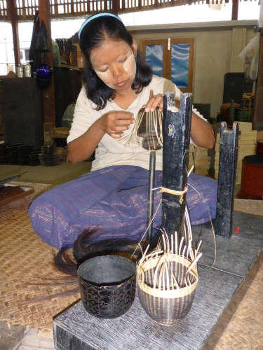 Basket maker, Bagan, Myanmar