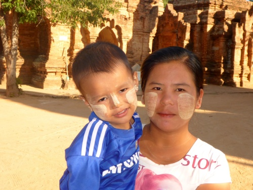 Myanmar mother and son