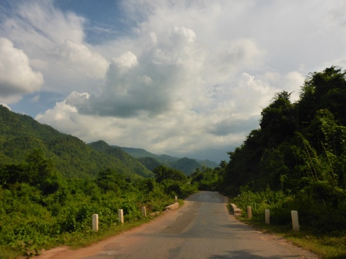 Hoping the rain will hold off  heading up the mountain towards Kalaw, Myanmar