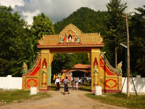 It is festival time in Myanmar so the temples are crowded and music is blearing