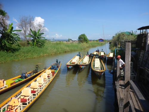 Our boats on Inle Lake, Myanmar