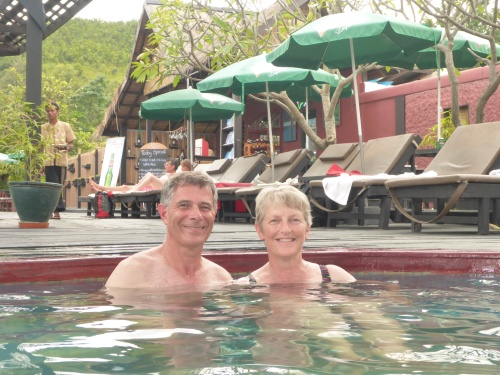 Finished our Inle Lake tour at natural springs and enjoyed a soak in a hot tub