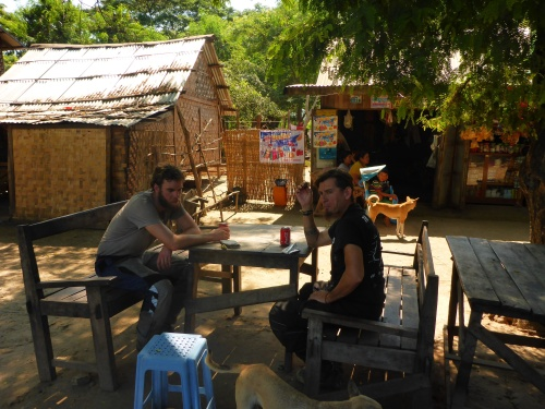 With Floris and Dan at one of our roadside stops, Myanmar