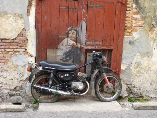 Boy on a Motorbike - George Town, Penang