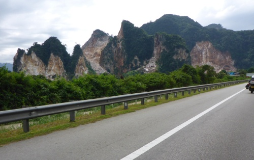 Such horrific quarrying - earth seemed to scream in pain, Malaysia