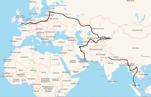 Verwood, UK to Kuala Lumpur, Malaysia - 21,500kms and 20 countries in 6 months