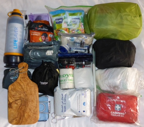 The contents of the Kitchen/Bathroom pannier