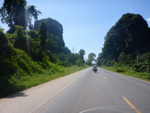 Riding to Trang, Thailand