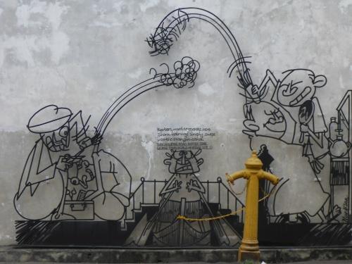 Shorn Hair sculpture, George Town, Penang