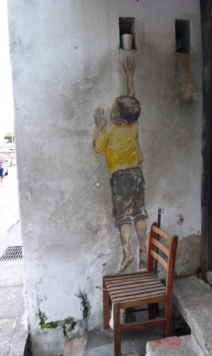 Boy on a chair - George Town, Penang