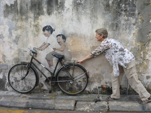 Kids on Bicycle, George Town, Penang