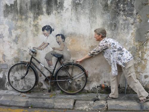 Kids on Bicycle, George Town, Penang