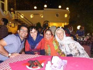 Fariba, her brother and sisters took us out for dinner in Tehran